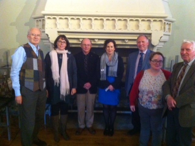 From left to right: Mr Brendan Twomey (honorary treasurer), Ms Jessica Cunningam, Dr Ian d'Alton, Dr Jennifer Redmond, Dr Adrian Empey (honorary secretary), Dr Miriam Moffit, Dr Kenneth Milne (both committee members)