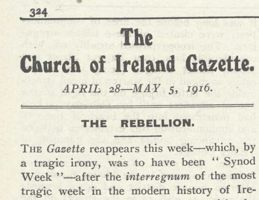 Church of Ireland Gazette 1916