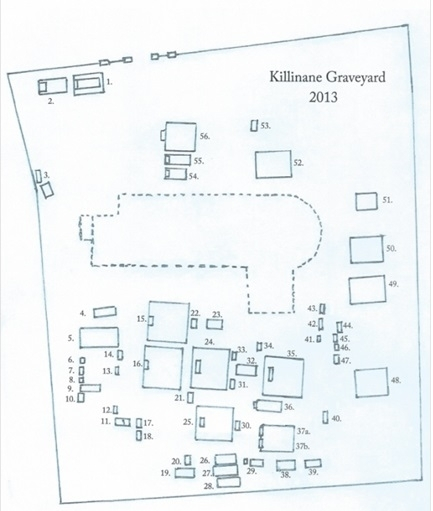 Sketch of Killinane Graveyard. Image courtesy of Gerry Kearney.