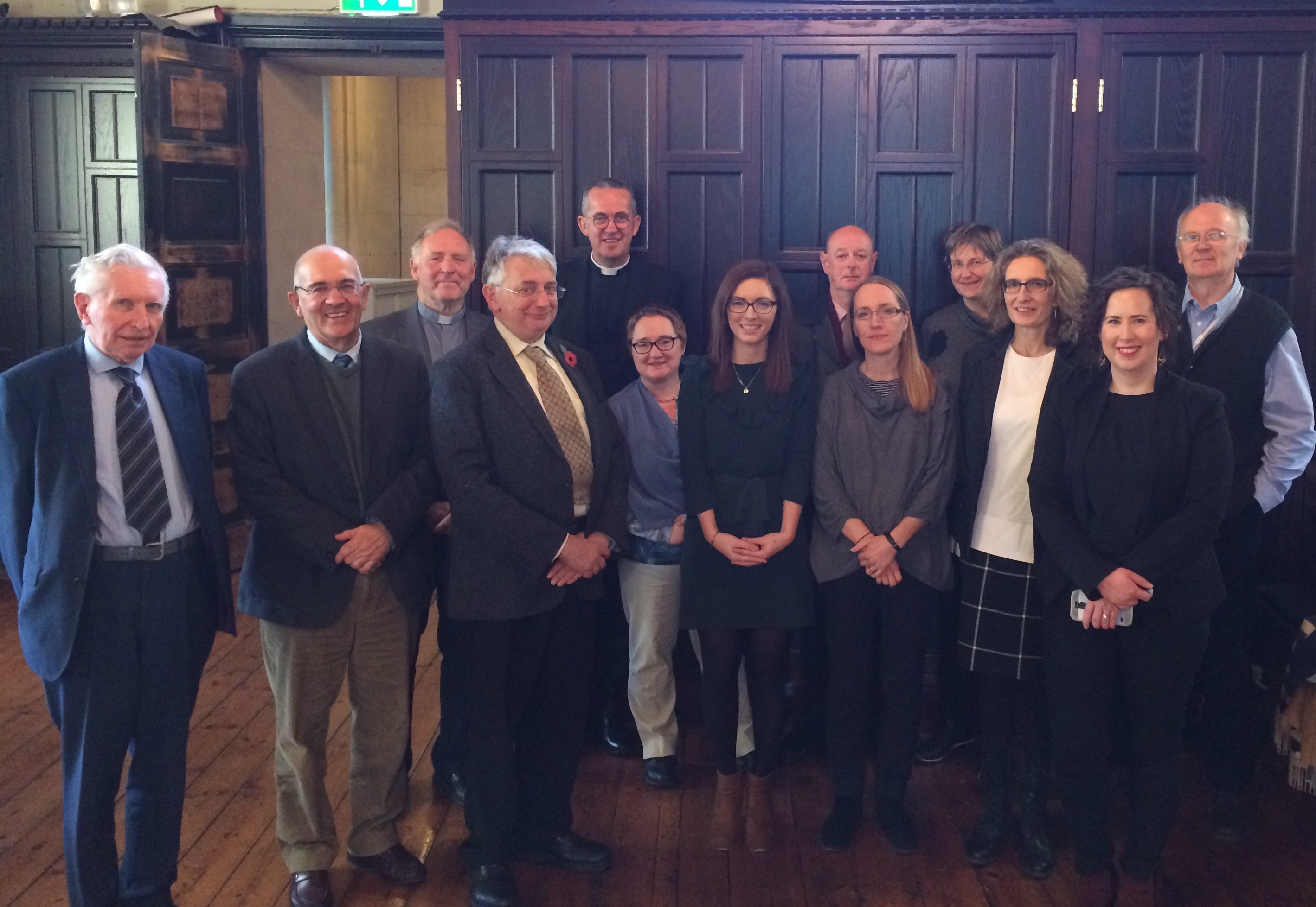 [Back row, left to right] Dr Adrian Empey, Very Reverend Dermot Dunne, Dr Raymond Refaussé, Dr Susan Hood, Mr Brendan Twomey [Front row, left to right] Dr Kenneth Milne, Professor David Hayton, Mr George Woodman, Dr Miriam Moffitt, Dr Bronagh McShane, Dr Heather Jones, Dr Judith Hill, Dr Jennifer Redmond